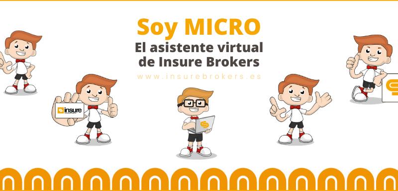 MICRO asistente virtual de la web de la correduría de Seguros Insure Brokers
